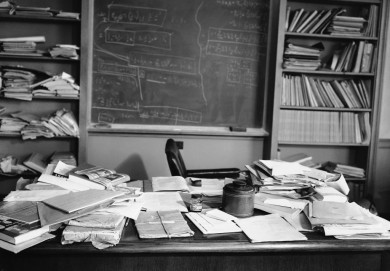 Einstein's cluttered desk